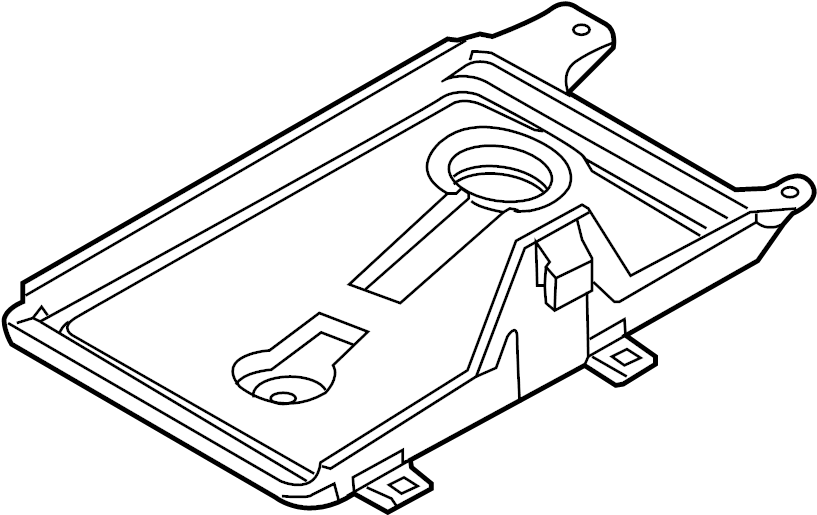 Ford Fusion Battery Tray. 2007-12. Telematics, Lighting