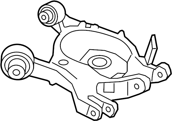 Ford Fusion Suspension Control Arm (Rear, Lower). Right