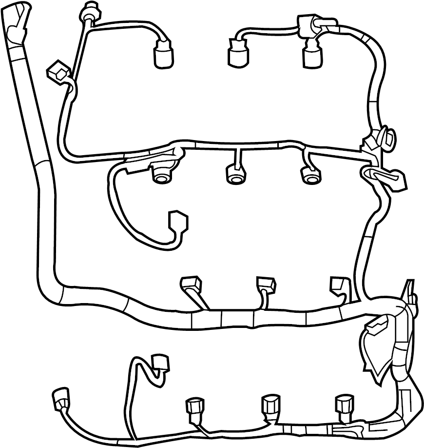 Ford Explorer Engine Wiring Harness. Liter, Lamps