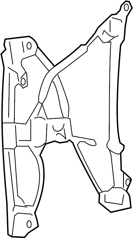 2007 Ford F-150 Window Regulator. Manual, Cab, Make