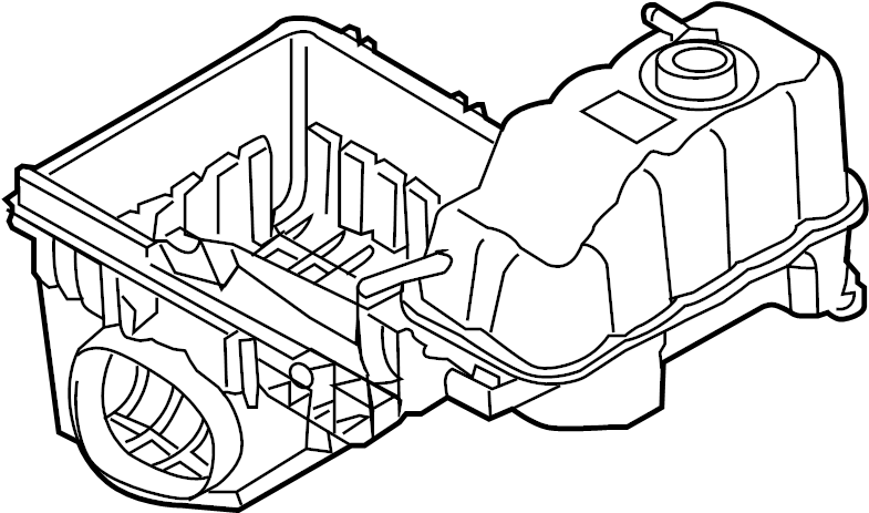 2013 Ford F-150 Expansion tank. Lower housing. Lower tray