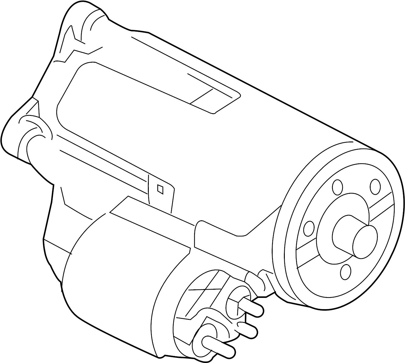 Ford F 350 Super Duty Starter Starter Motor Asy
