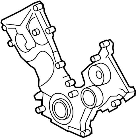 2007 Ford F-150 Engine Timing Cover (Front). Cover. Timing