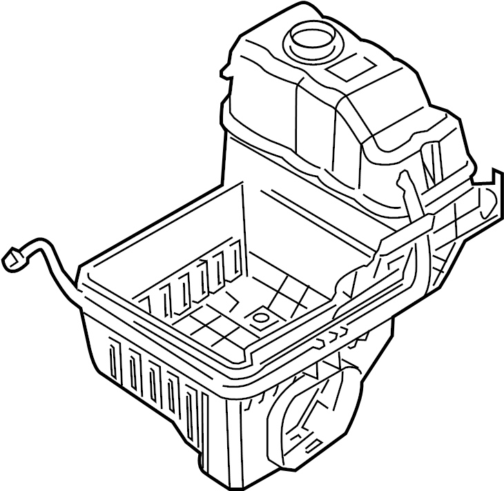 2013 Ford F-150 Air Filter Housing (Lower). LITER, Cooling
