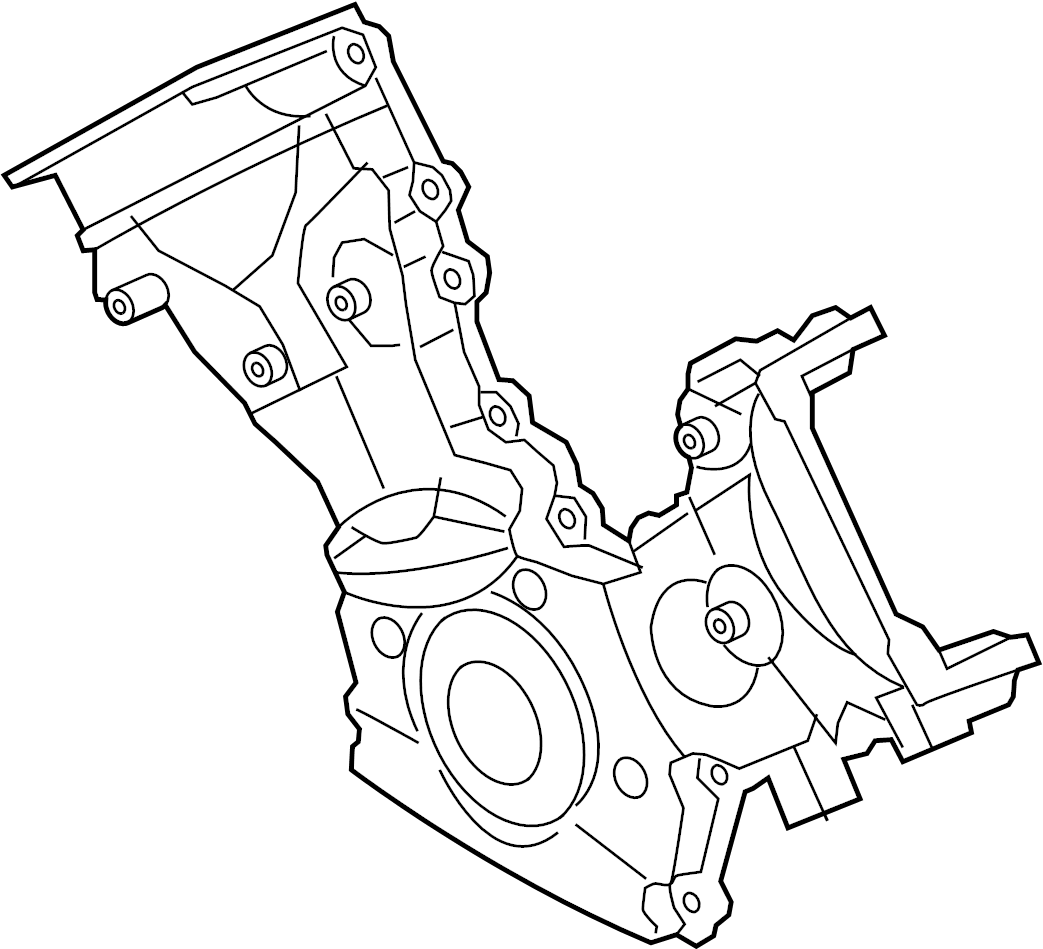Ford F-150 Engine Timing Cover. 6.2 LITER. F150. F250