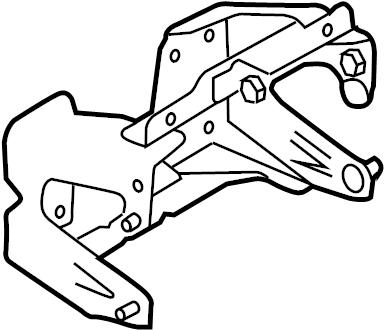 Ford F-150 Running Board Mounting Bracket. CAB, STEP