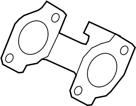 Ford F-250 Super Duty Exhaust Manifold Gasket. 6.2 LITER