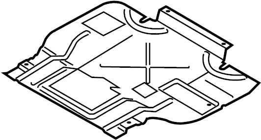 Ford F-150 Shield. Cover. (Front, Lower). LITER, Plate