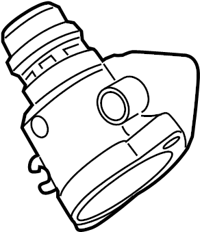 2012 Ford F-150 Thermostat. Connection. Water. Housing