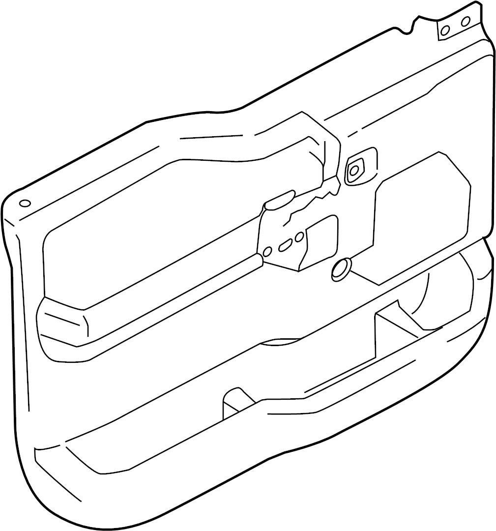 Ford F-150 Door Interior Trim Panel. MANUAL, Window, Front