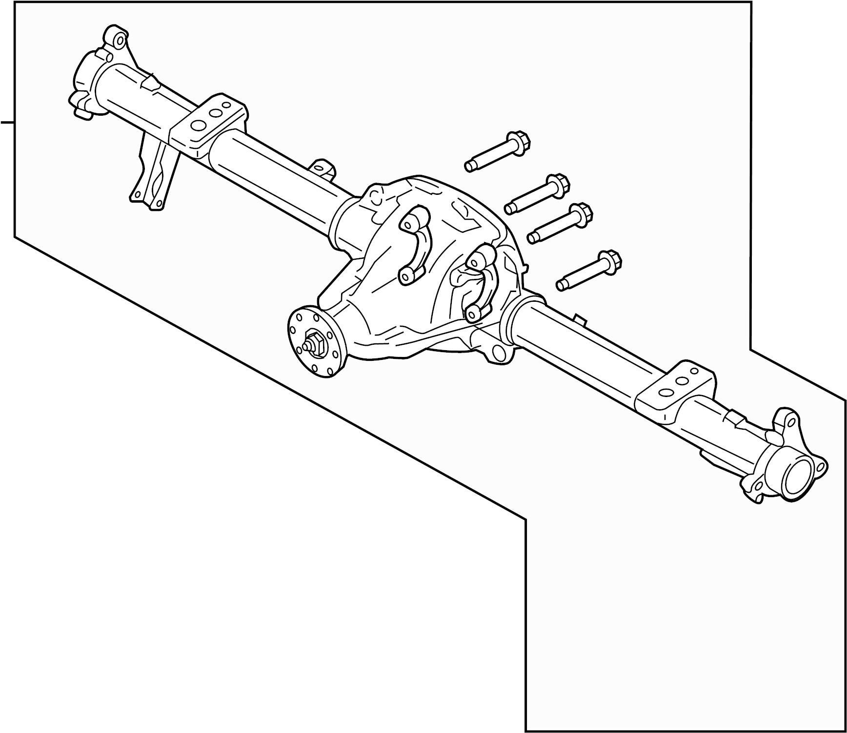 Ford F-150 Differential Housing (Rear). AXLE, Locking