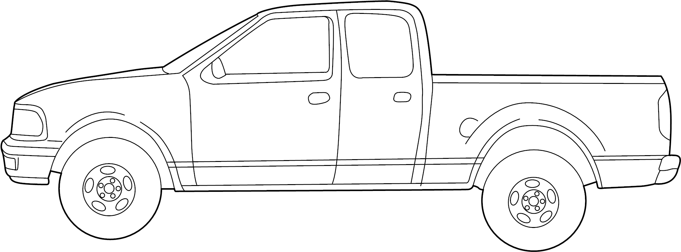 Ford F 150 Stripe Tape Kit Decal Trim Type 7 Supercrew