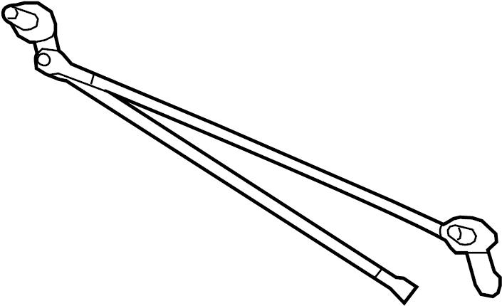 1993 Ford Windshield Wiper Linkage. Shaft, Assembly, Pivot