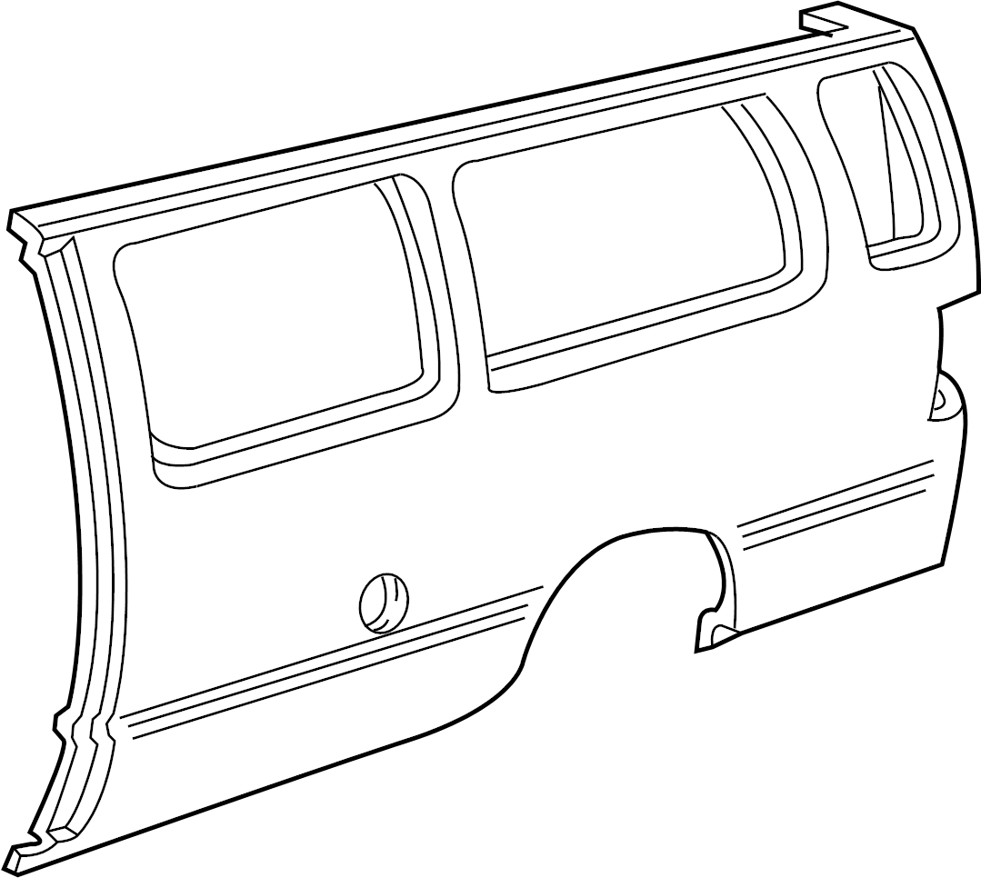 Ford E 150 Econoline Quarter Panel Driver Side