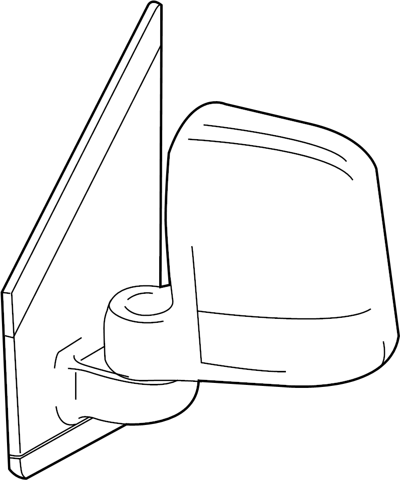 Ford Transit Connect Door Mirror (Rear). Replace, Repair