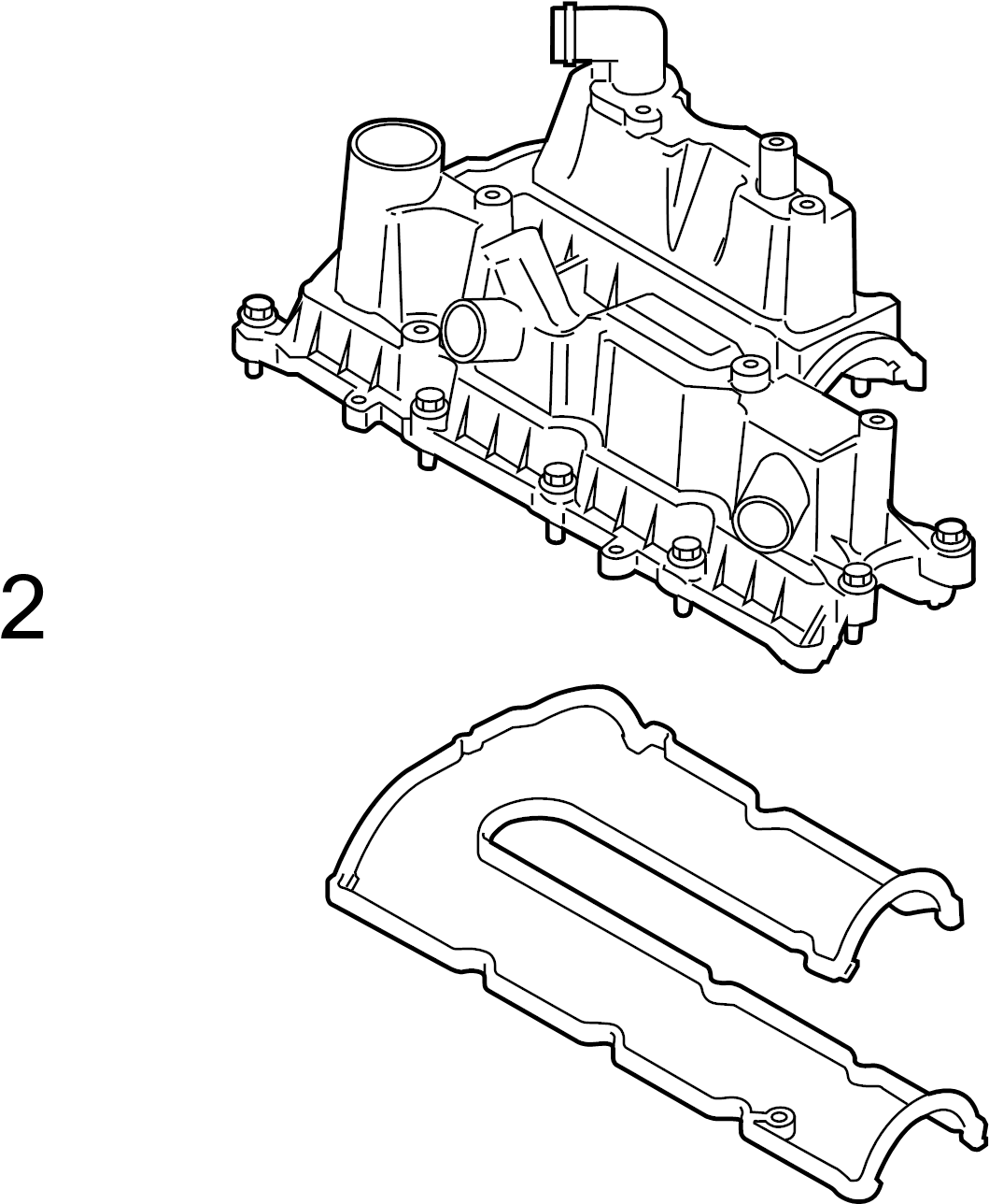 Ford Escape Engine Valve Cover Gasket Connect Transit