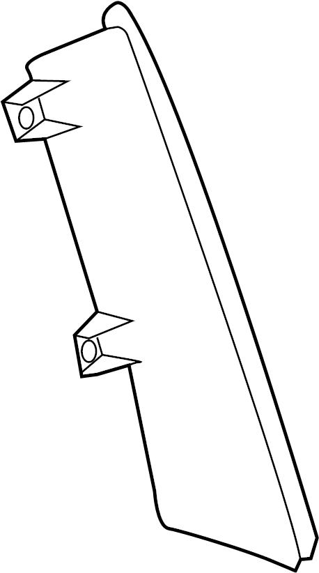 2015 Ford Transit Connect Quarter Panel Filler Panel (Rear