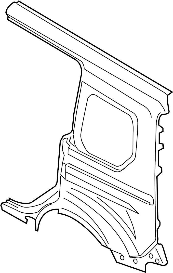 2016 Ford Transit Connect Quarter Panel (Rear). DRIVER