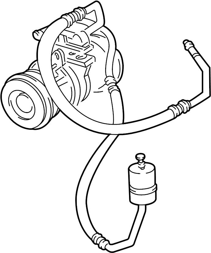 Ford E-350 Econoline Club Wagon Discharge Line. Hose and