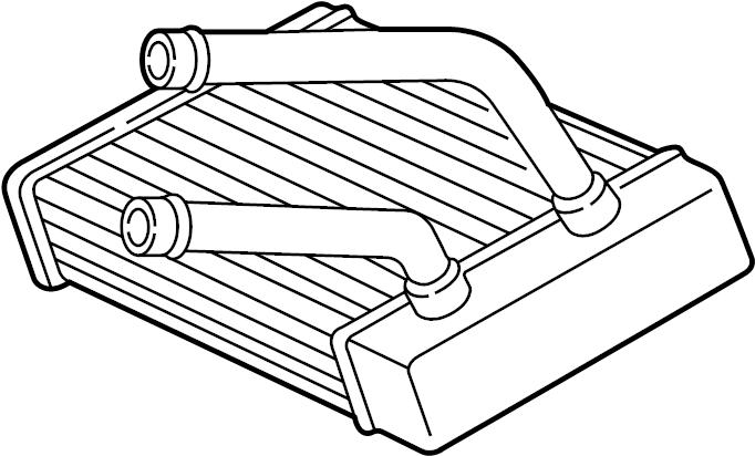 Ford E-250 Econoline Hvac heater core. 1992-96. E150-350