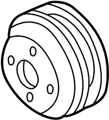 Ford F-250 Super Duty Engine Water Pump Pulley. 6.0 LITER