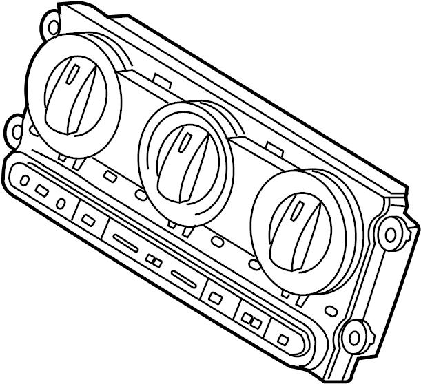 Ford Expedition Hvac temperature control panel. Floor