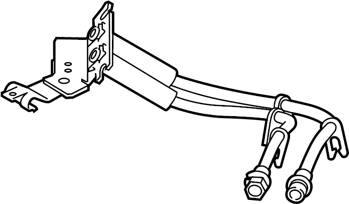 Ford Ranger Brake Hydraulic Hose. Make, Line, Repair