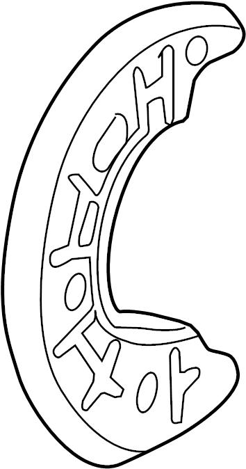 Ford Explorer Sport Trac Brake Dust Shield. 4WD. 4WD, 2004