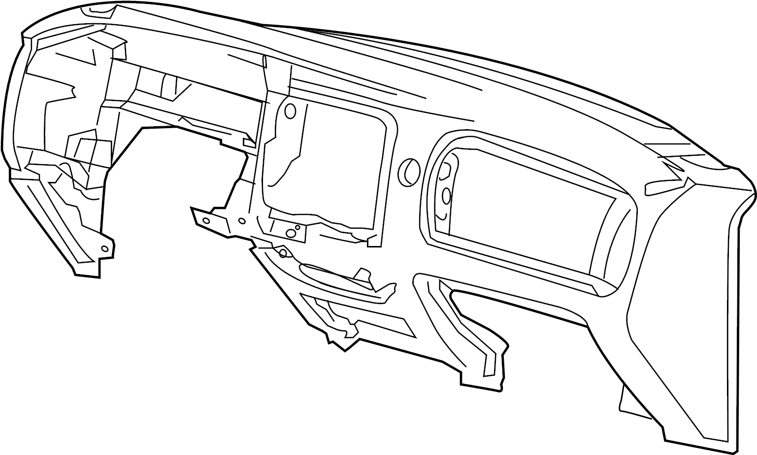 Ford Ranger Dashboard Panel. Instrument, Flint, Make