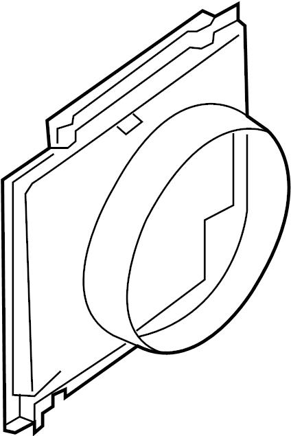 2008 Ford F-350 Super Duty Engine Cooling Fan Shroud