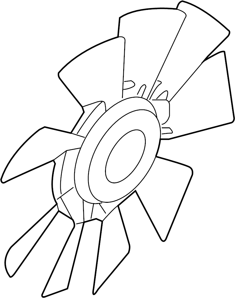 Ford F-350 Super Duty Engine Cooling Fan Clutch Blade