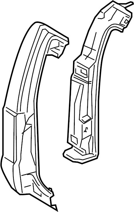 Ford F-250 Super Duty Pillar. Panel. (Front, Rear, Upper