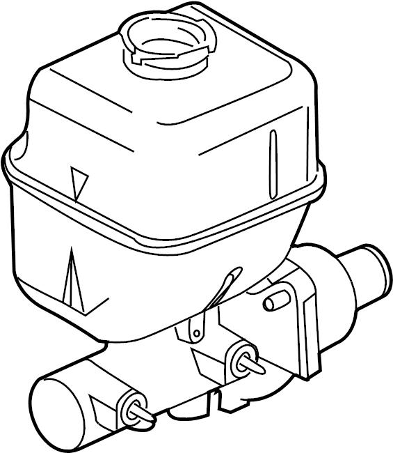 2010 Ford F-250 Super Duty Brake Master Cylinder. CYLINDER
