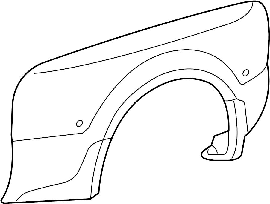 2006 Ford F-350 Super Duty Fender (Rear). BOX, Foot, Left
