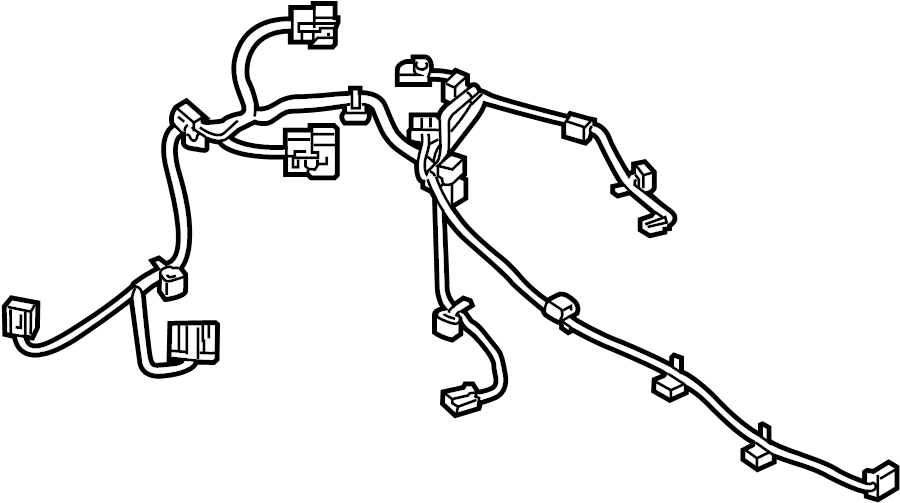 Ford F-250 Super Duty Hvac system wiring harness. Dual