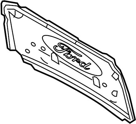 Ford F-250 Super Duty Hood Insulation Pad. Liter