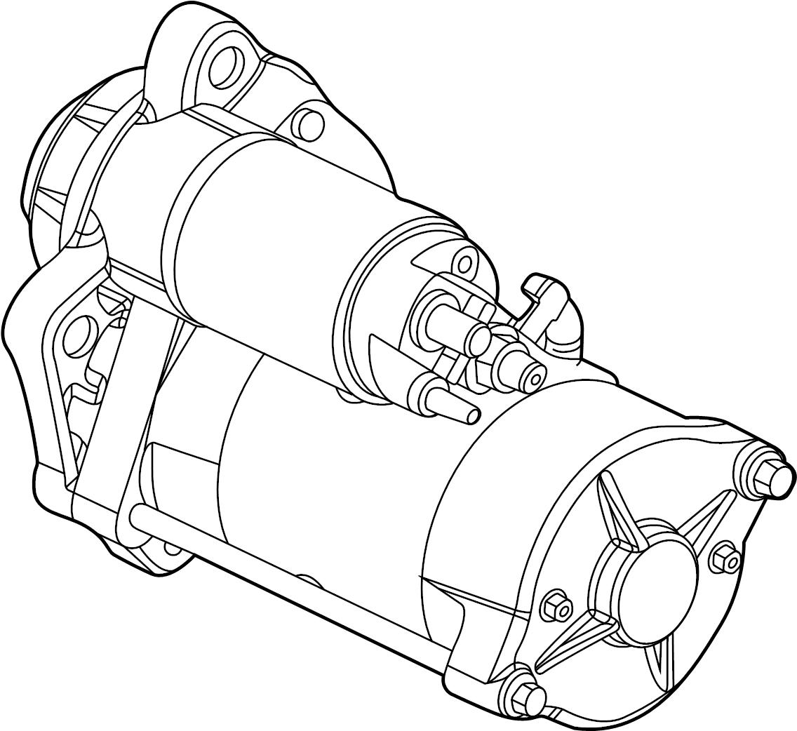 Ford F-250 Super Duty Starter motor assembly. 6.7 liter