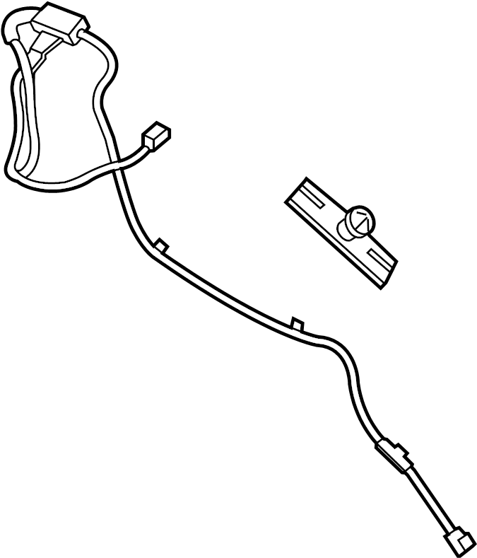 2015 Ford F-250 Super Duty Antenna Cable Connector. Radio