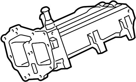 2012 Ford F-250 Super Duty Housing. 6.7 liter, egr valve