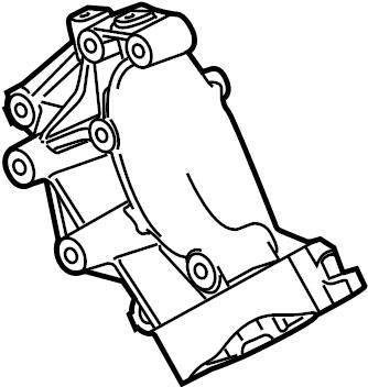 2012 Ford F-250 Super Duty Power Steering Pump Bracket. W