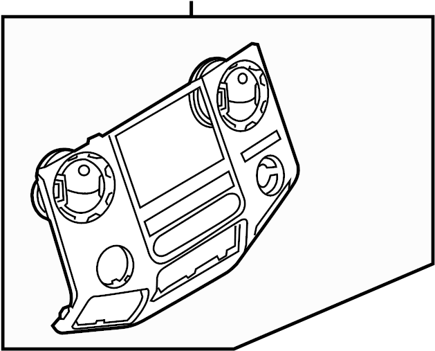 Ford F-450 Super Duty Instrument Panel Trim Panel. 2011-12