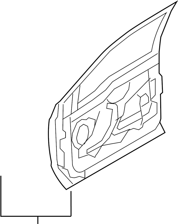 Ford F-250 Super Duty Door shell. REPAIR PANEL. W/keyless