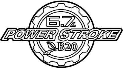 2015 Ford F-250 Super Duty Tailgate Emblem. Box, FOOT