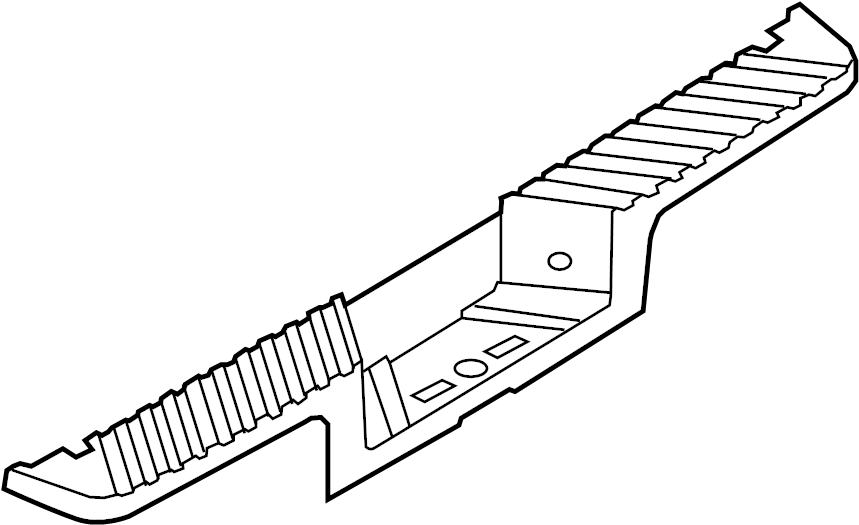 Ford F-250 Super Duty Bumper Step Pad (Lower). W/reverse