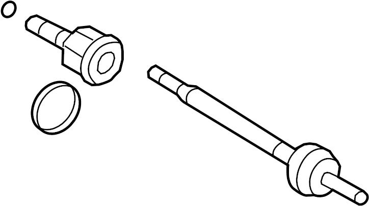 Ford Explorer Cv axle assembly (rear). Left, shaft, make