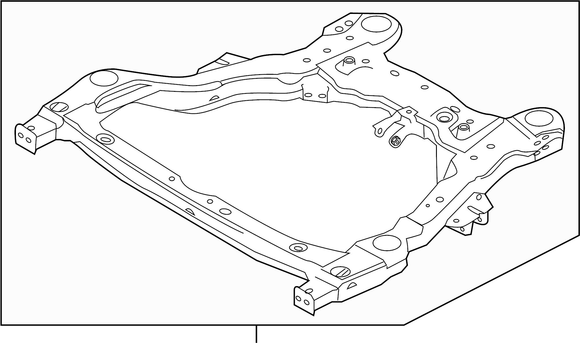 Ford Explorer Suspension Subframe Crossmember (Front