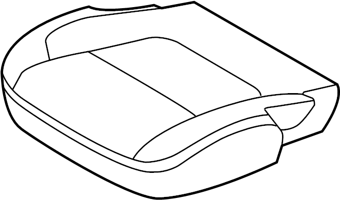 Ford Explorer Seat Cover. SEAT CUSHION W/O POLICE