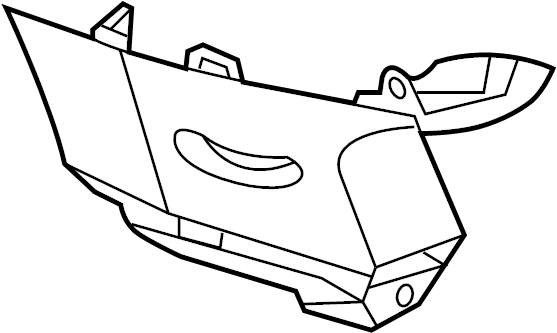 2014 Ford Explorer Body D-Pillar Trim Panel (Rear, Upper