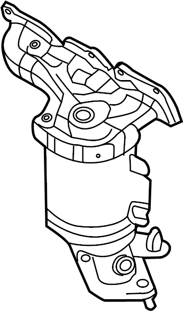 2013 Ford Explorer Catalytic Converter with Integrated