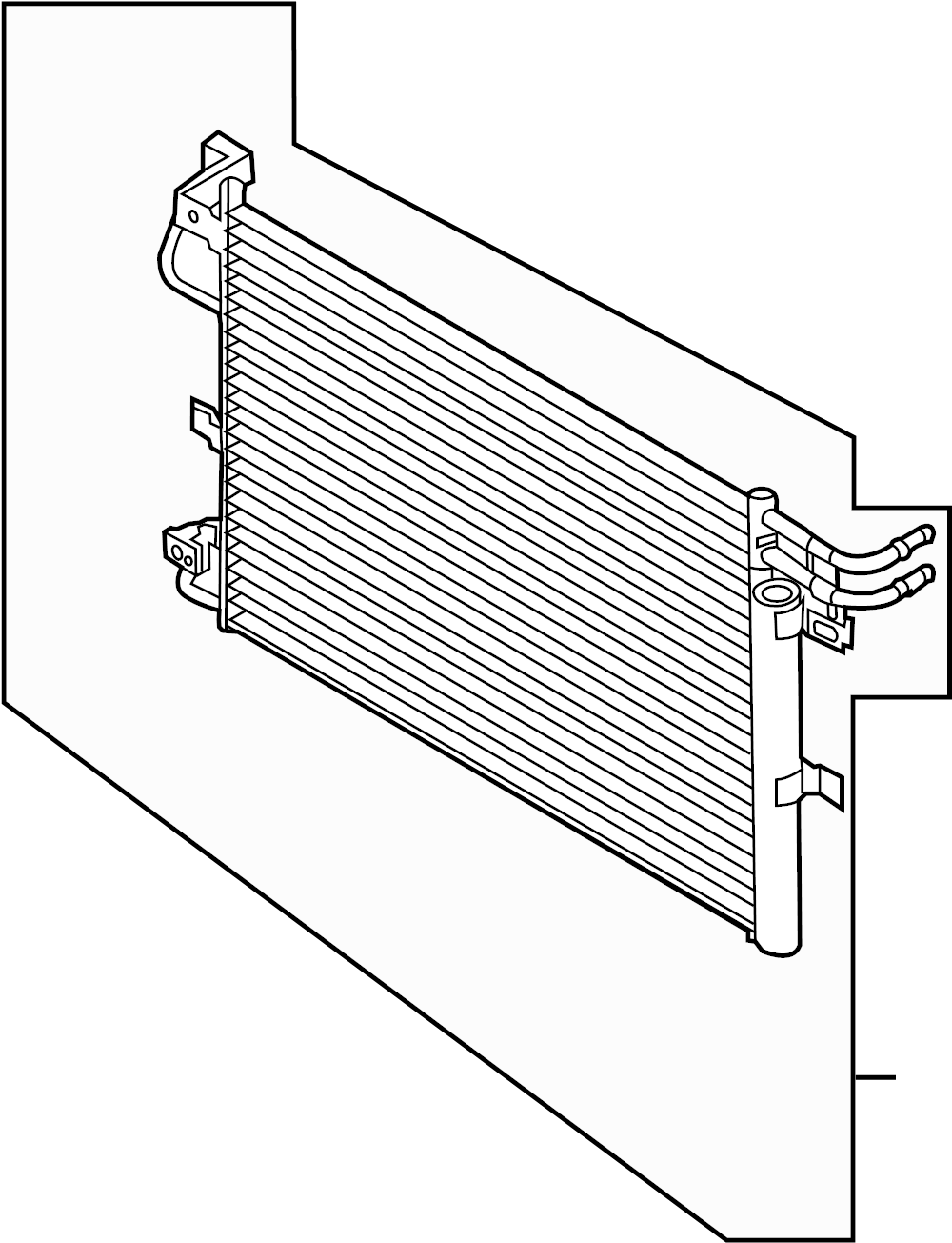 Ford Explorer Condenser Assembly. Conditioning